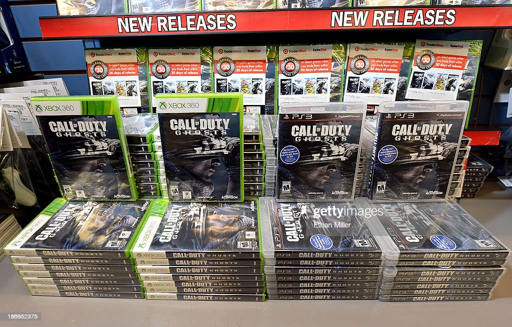 Ghosts' are displayed during a launch event for the highly anticipated video game at a GameStop Corp. store on November 4, 2013 in North Las Vegas, Nevada. Video game publisher Activision released the 10th installment in the 'Call of Duty' franchise at midnight on November 5.