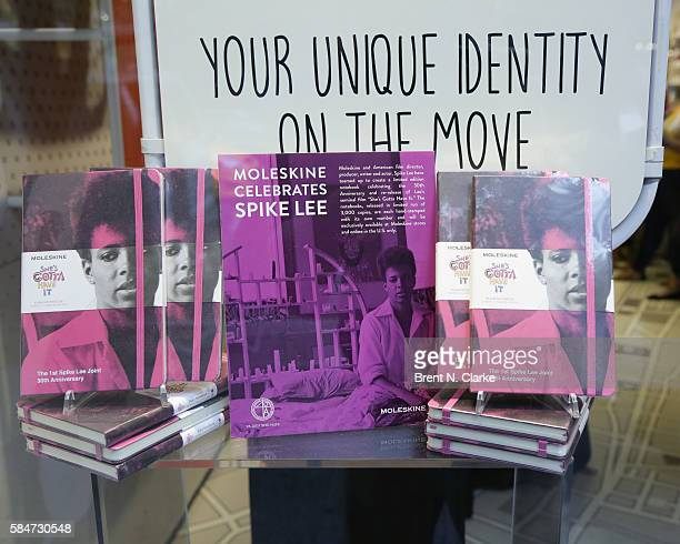 Copies of director Spike Lee's new book are seen during his 30th anniversary celebration of 'She's Gotta Have It' book signing held at the Moleskine...