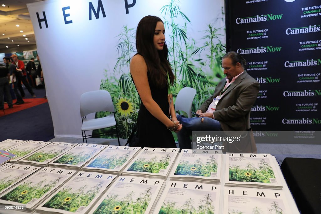 Copies of Hemp magazine are displayed at the Cannabis World Congress Conference on June 16, 2017 in New York City. Billed as 'the leading trade show and conference for the legalized cannabis, medical marijuana, and industrial hemp industries,' the 4th annual conference brings together dozens of both small and large businesses involved in the growing hemp and marijuana market.