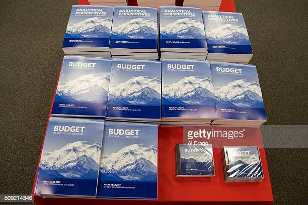 STATES FEB 9 Copies of President Barack Obama's fiscal 2017 federal budget are seen for sale at the US Government Publishing Office in Washington DC...