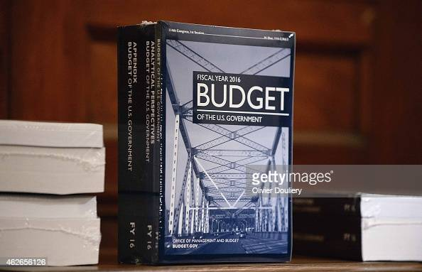 Copies of President Barack Obama's proposed FY2016 federal budget is delivered to the House Budget Committee in the Cannon House Office Building on...