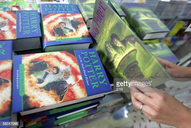 Copies of the Englishversion of the sixth book in the hugely successful series 'Harry Potter and the HalfBlood Prince' at a bookstore in Beijing 17...