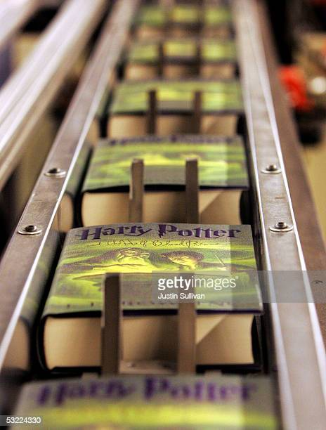 Copies of the new Harry Potter and the Half Blood Prince by author J K Rowling move along a conveyor belt at the Amazoncom shipping facility July 11...