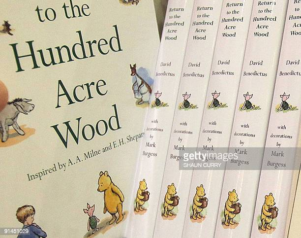 Copies of the new WinniethePooh book entitled 'Return To The Hundred Acre Wood' are pictured in a book shop in central London on October 5 2009...