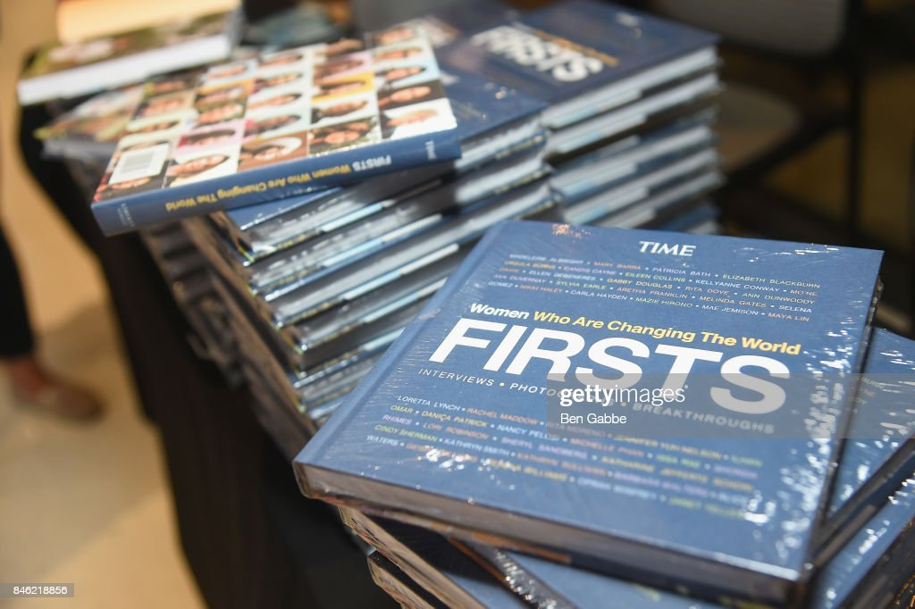 Copies of TIME FIRSTS Women Who Are Changing The World are seen during TIME Celebrates FIRSTS on September 12, 2017 in New York City.