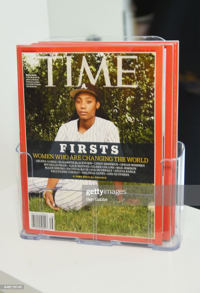 Copies of TIME Magazine are seen during TIME Celebrates FIRSTS on September 12, 2017 in New York City.