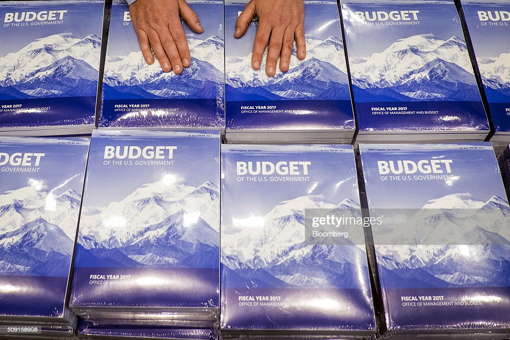 Copies of U.S. President Barack Obama's Fiscal Year 2017 Budget sit on a table at the Senate Budget Committee room in Washington, D.C., U.S., on Tuesday, Feb. 9, 2016. Obama will send a fiscal 2017 budget of about $4 trillion to the Republican-controlled Congress on Tuesday representing his aspirations for the future of the U.S. Photographer: Pete Marovich/Bloomberg via Getty Images