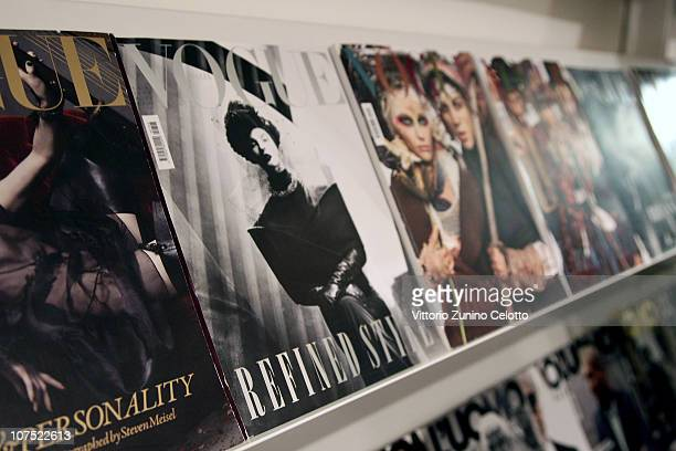 Copies of Vogue Italia are displayed at Vogue Editorial Office on December 10 2010 in Milan Italy