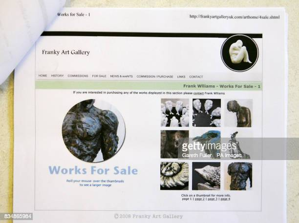 Copies of web pages showing how a con artist is using artist Eve Shepherd's identity to scam customers