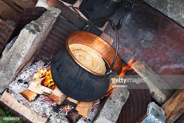 Copper bouilloire de café chaud suisse schnaps moussant