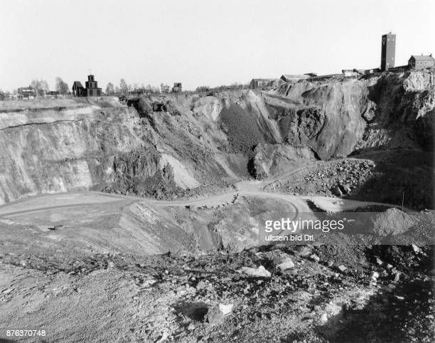 Copper mining Falun Mine in Falun the great pit