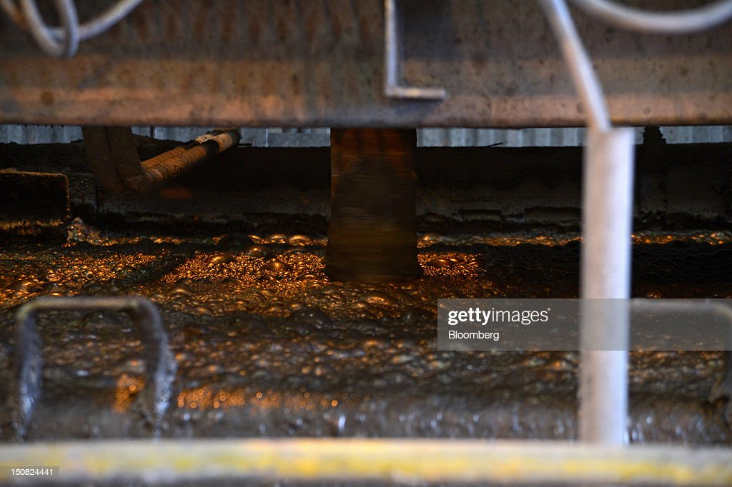 Copper ore slurry passes through the froth flotation process at the processing plant of Rio Tinto Group's Northparkes copper and gold underground block cave mine in Parkes, New South Wales, Australia, on Thursday, Aug. 23, 2012. Northparkes last year produced 50,000 tons of copper. Rio owns 80 percent of the operation and Sumitomo Corp., the remainder. Photographer: Carla Gottgens/Bloomberg via Getty Images