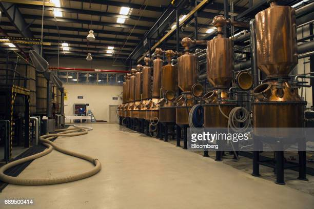 Copper pot stills stands at the Patron Spirits Co distillery in Atotonilco El Alto Jalisco Mexico on Tuesday April 4 2017 The Trump administration is...