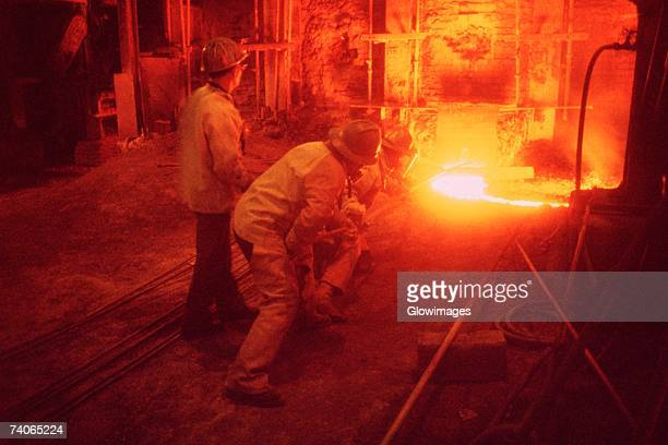 Copper smelting, Ilo, Peru