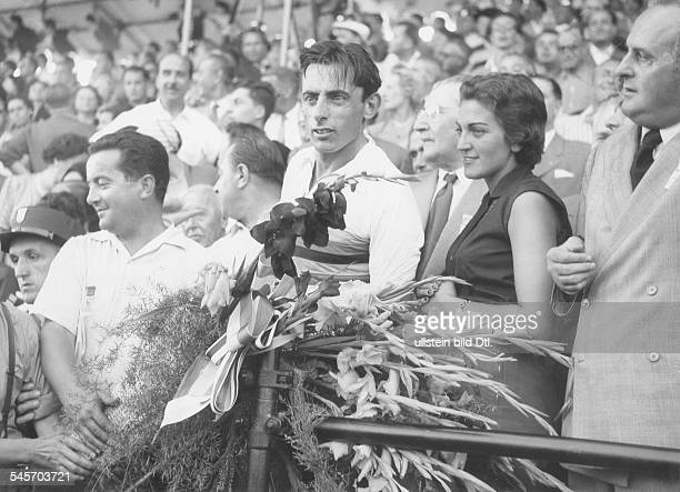 Coppi Fausto *Racing cyclist Italywith Giulia Occhini 1950ies