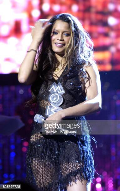 Copresenter of the ceremony Blu Cantrell during rehearsals for the MOBO Awards 2003 at the Royal Albert Hall in London