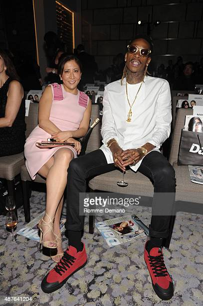 CoPresident and Chief Creative Officer of Guggenheim Media's Entertainment Group Janice Min and Rapper Wiz Khalifa attend The Daily Front Row's Third...