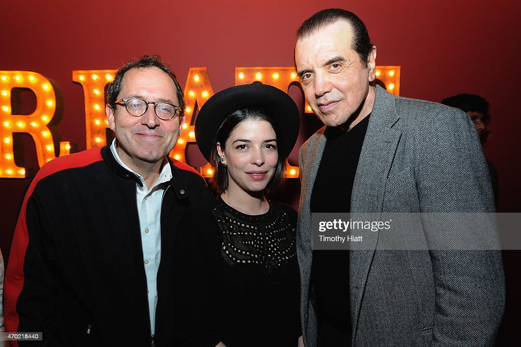 CoPresident and CoFounder of Sony Pictures Classics Michael Barker Heloise Godet and Chazz Palminteri attend the EBERTFEST 2015 Mid Festival Party at...