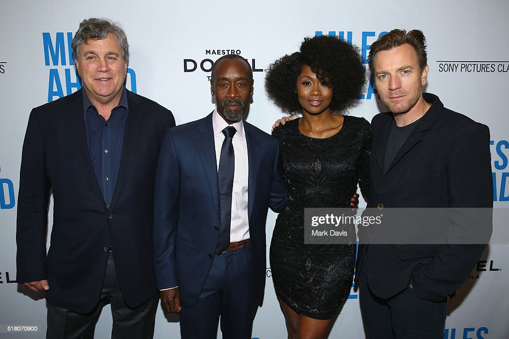 Co-President and Co-Founder of Sony Pictures Classics Tom Bernard, director/actor Don Cheadle, actress Emayatzy Corinealdi and actor Ewan McGregor attend the premiere of Sony Pictures Classics' 'Miles Ahead' at Writers Guild Theater on March 29, 2016 in Beverly Hills, California.