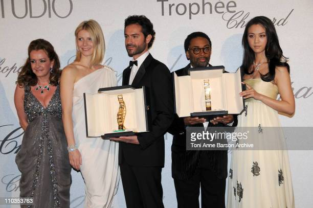 Copresident of Chopard Caroline Gruosi Scheufele Actress Gwenyth Paltrow 2008 Chopard Trophy Award Winner Omar Metwally director Spike Lee and 2008...