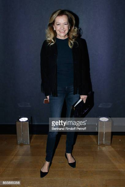 CoPresident of Chopard Caroline Scheufele attends the Elie Saab show as part of the Paris Fashion Week Womenswear Spring/Summer 2018 on September 30...