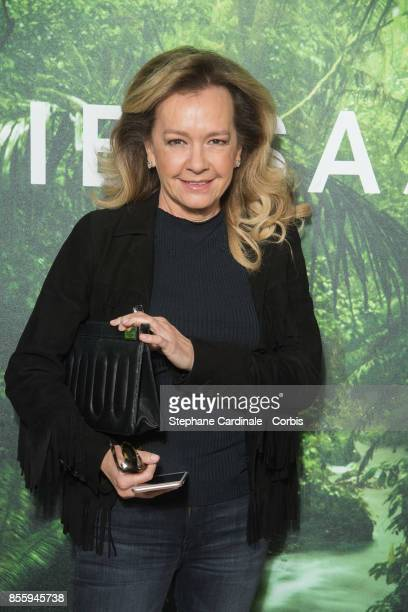 CoPresident of Chopard Caroline Scheufele attends the Elie Saab show as part of the Paris Fashion Week Womenswear Spring/Summer 2018 at on September...