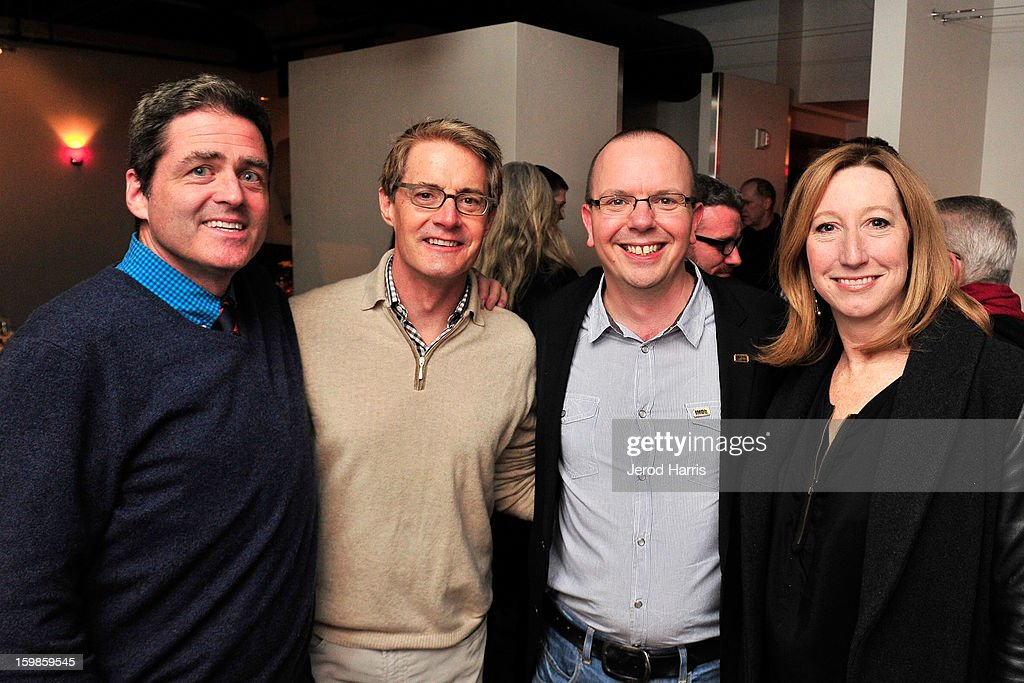 Co-president of Film Independant Josh Welsh, actor Kyle MacLachlan, IMDb founder Col Needham and Executive director of Sundance Institute Keri Putnam attend the IMDb Sundance dinner party at The Mustang on January 21, 2013 in Park City, Utah.