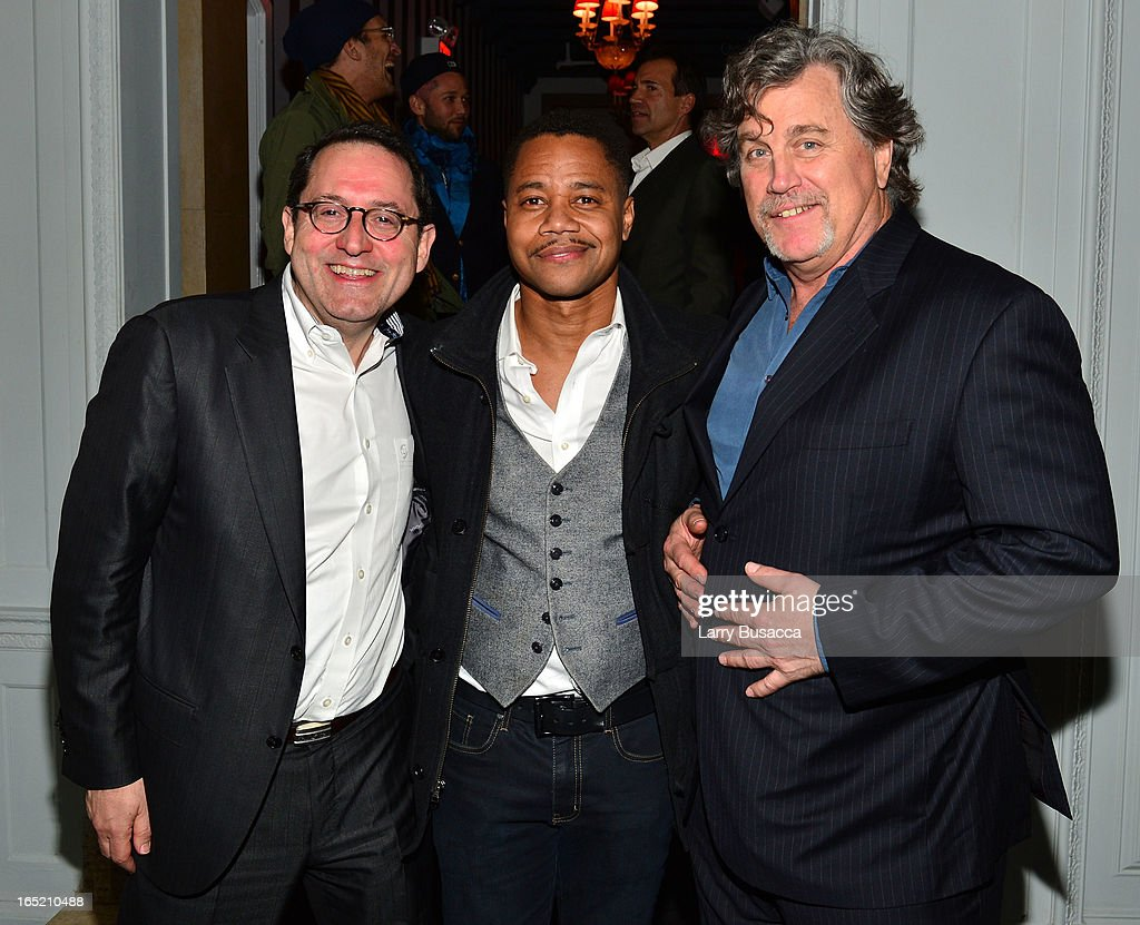 Co-President of Sony Pictures Classics Michael Barker, actor <a gi-track='captionPersonalityLinkClicked' href=/galleries/search?phrase=Cuba+Gooding+Jr.&family=editorial&specificpeople=208232 ng-click='$event.stopPropagation()'>Cuba Gooding Jr.</a> and Co-President of Sony Pictures Classics <a gi-track='captionPersonalityLinkClicked' href=/galleries/search?phrase=Tom+Bernard&family=editorial&specificpeople=204620 ng-click='$event.stopPropagation()'>Tom Bernard</a> attend 'The Company You Keep' New York Premiere After Party at Harlow on April 1, 2013 in New York City.