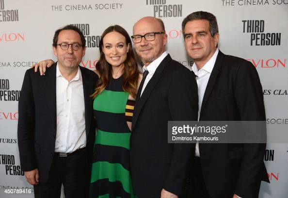 Copresident of Sony Pictures Classics Michael Barker Actor Olivia Wilde Director Paul Haggis and Producer Michael Nozik attend Sony Pictures...