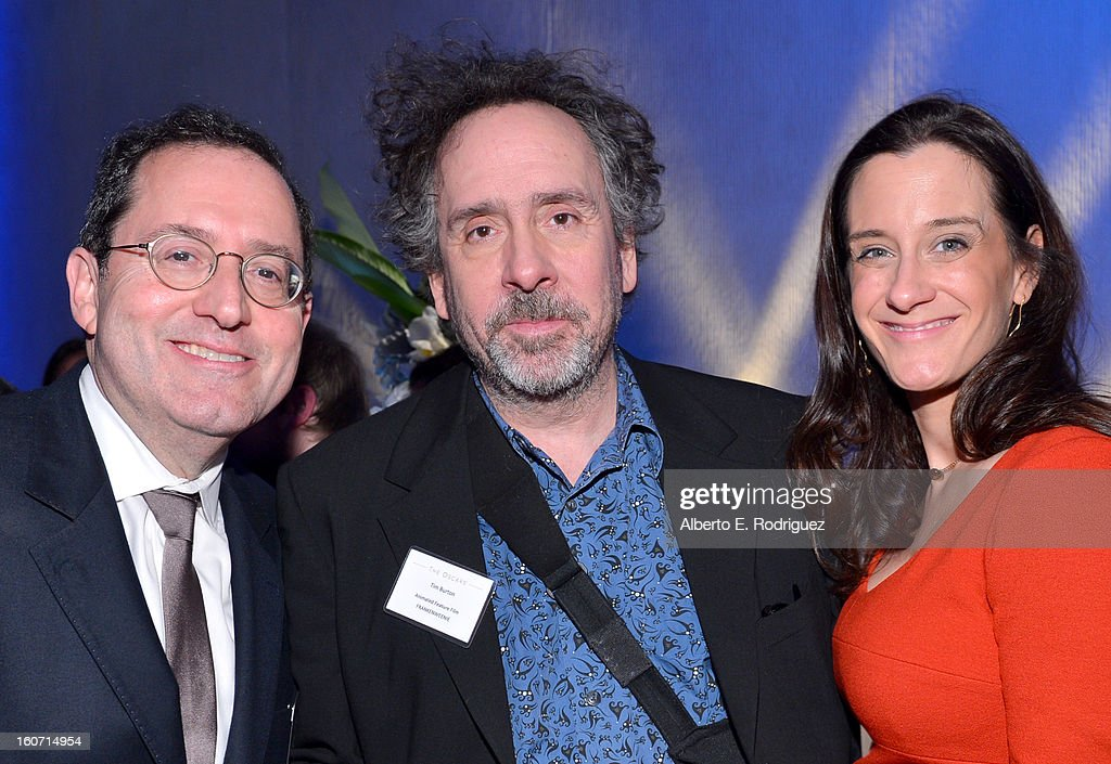 Co-president of Sony Pictures Classics Michael Barker, director Tim Burton, and guest attend the 85th Academy Awards Nominations Luncheon at The Beverly Hilton Hotel on February 4, 2013 in Beverly Hills, California.