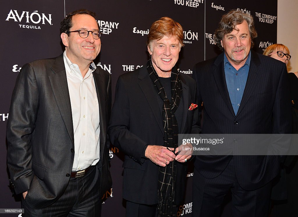 Co-President of Sony Pictures Classics Michael Barker, Robert Redford and Co-President of Sony Pictures Classics Tom Bernard attend 'The Company You Keep' New York Premiere at The Museum of Modern Art on April 1, 2013 in New York City.