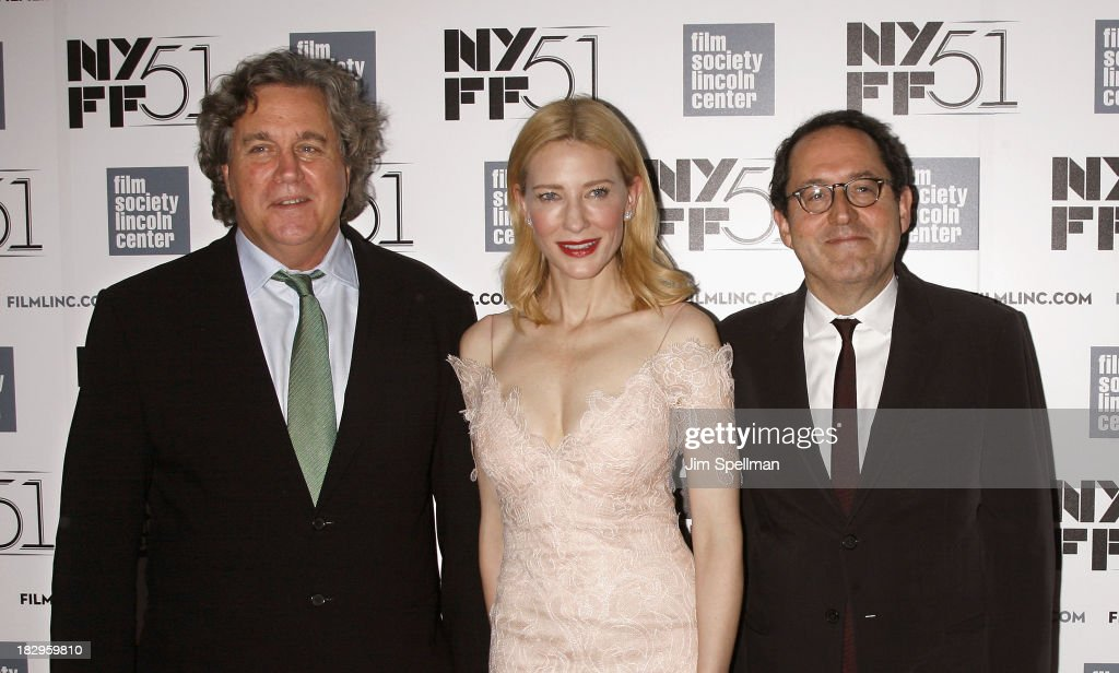Co-President of Sony Pictures Classics Tom Bernard, actress Cate Blanchett and co-president of Sony Pictures Classics Michael Barker attend the Gala Tribute To Cate Blanchett during the 51st New York Film Festival at Alice Tully Hall at Lincoln Center on October 2, 2013 in New York City.