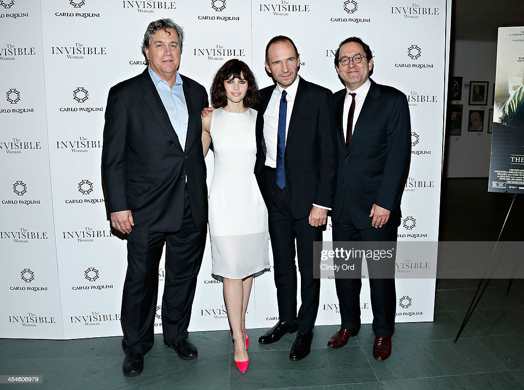 Co-President of Sony Pictures Classics <a gi-track='captionPersonalityLinkClicked' href=/galleries/search?phrase=Tom+Bernard&family=editorial&specificpeople=204620 ng-click='$event.stopPropagation()'>Tom Bernard</a>, actress <a gi-track='captionPersonalityLinkClicked' href=/galleries/search?phrase=Felicity+Jones&family=editorial&specificpeople=5128418 ng-click='$event.stopPropagation()'>Felicity Jones</a>, actor <a gi-track='captionPersonalityLinkClicked' href=/galleries/search?phrase=Ralph+Fiennes&family=editorial&specificpeople=206461 ng-click='$event.stopPropagation()'>Ralph Fiennes</a> and Co-President of Sony Pictures Classics Michael Barker attend 'The Invisible Woman' New York Premiere at Museum of Modern Art on December 9, 2013 in New York City.