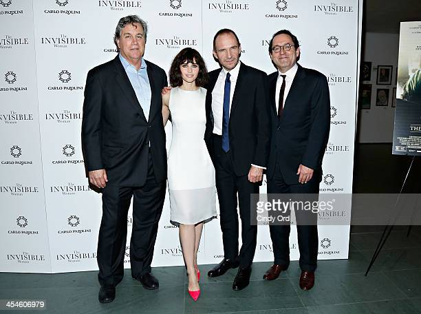 CoPresident of Sony Pictures Classics Tom Bernard actress Felicity Jones actor Ralph Fiennes and CoPresident of Sony Pictures Classics Michael Barker...