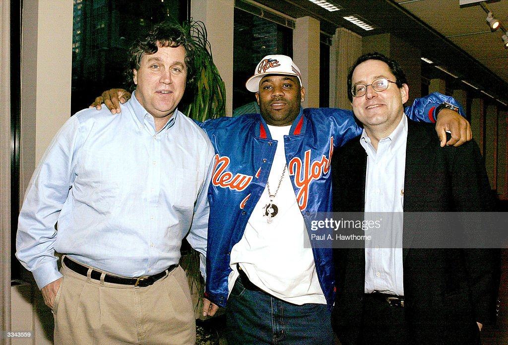 Co-president of Sony Pictures Classics Tom Bernard (L), CEO of Roc-A-Fella Records/Rocawear Damon Dash and Co-President of Sony Pictures Classics Michael Barker (R) attend a viewing of 'Baadasssss!' at the Sony Screening Room, April 12, 2004 in New York City.