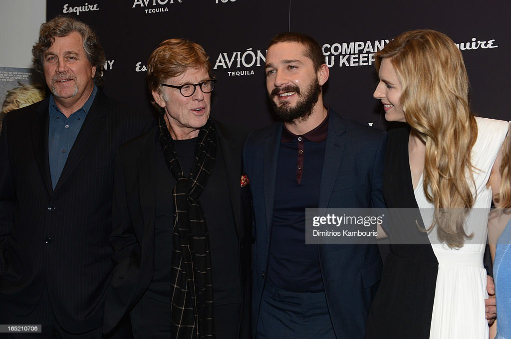 Co-President of Sony Pictures Classics Tom Bernard, director\actor Robert Redford, Shia LaBeouf and Brit Marling attend 'The Company You Keep' New York Premiere at MOMA on April 1, 2013 in New York City.