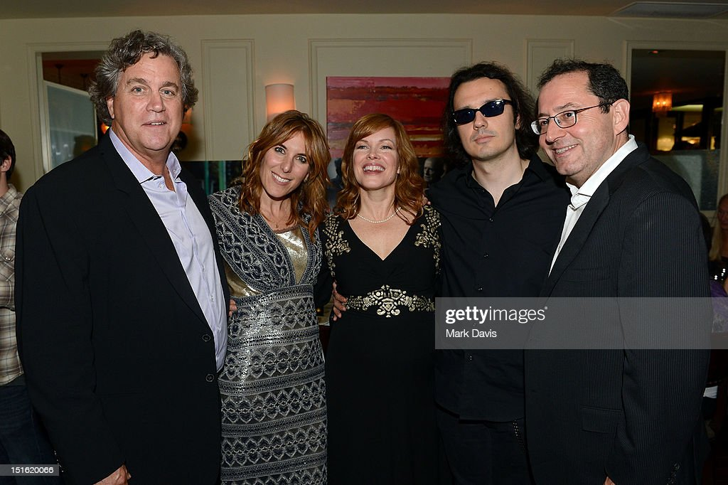 Co-President of Sony Pictures Classics <a gi-track='captionPersonalityLinkClicked' href=/galleries/search?phrase=Tom+Bernard&family=editorial&specificpeople=204620 ng-click='$event.stopPropagation()'>Tom Bernard</a>, Director/Producer <a gi-track='captionPersonalityLinkClicked' href=/galleries/search?phrase=Amy+Berg&family=editorial&specificpeople=581755 ng-click='$event.stopPropagation()'>Amy Berg</a>, Producer Lorri Davis, producer/documentary subject Damien Echols, and Co-President of Sony Pictures Classics <a gi-track='captionPersonalityLinkClicked' href=/galleries/search?phrase=Michael+Barker+-+CEO&family=editorial&specificpeople=236048 ng-click='$event.stopPropagation()'>Michael Barker</a> attend the Sony Pictures cocktail hour during the 2012 Toronto International Film Festival at the Creme Brasserie on September 8, 2012 in Toronto, Canada.
