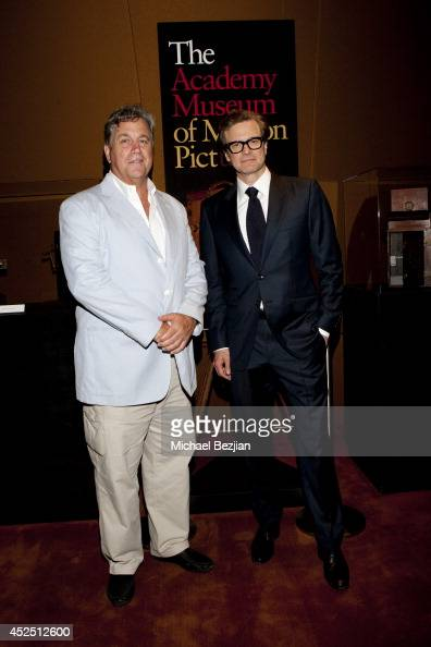 CoPresident of Sony Pictures Classics Tom Bernard with actor Colin Firth at Sony Pictures Classics Presents The 'Magic In The Moonlight' Premiere...