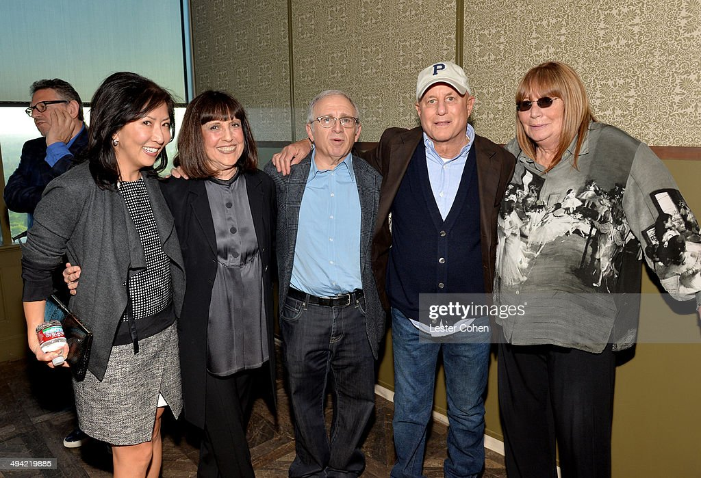 Co-President/Chief Creative Officer of the Entertainment Group of Guggenheim Media Janice Min, Lisa Robinson, Irving Azoff, Ron Perelman, and director Penny Marshall attend the Shelli And Irving Azoff & Ronald Perelman Party to celebrate the publication of Lisa Robinson's book 'There Goes Gravity: A Life in Rock And Roll' on May 28, 2014 in Los Angeles, California.