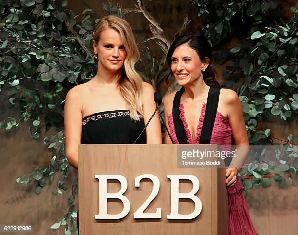 CoPresidents of Baby2Baby Kelly Sawyer Patricof and Norah Weinstein speak onstage during the Fifth Annual Baby2Baby Gala Presented By John Paul...
