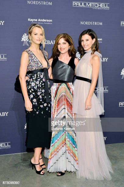 CoPresidents of Baby2Baby Kelly Sawyer Patricof and Norah Weinstein and Selma Blair attend the 2017 Baby2Baby Gala at 3LABS on November 11 2017 in...