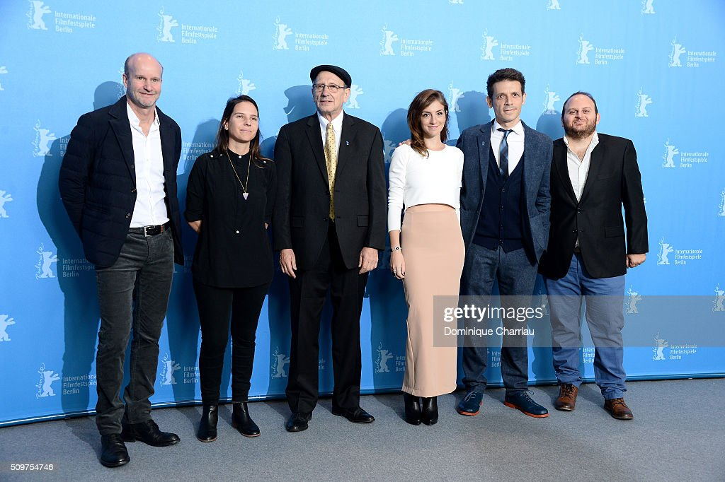 Co-Producer Alejandro Gorodish, producer Barbara Francisco, actors Usher Barilka, Julieta Zylberberg, director Daniel Burman and actor Alan Sabbagh attend the 'The Tenth Man' photo call during the 66th Berlinale International Film Festival Berlin at Grand Hyatt Hotel on February 12, 2016 in Berlin, Germany.