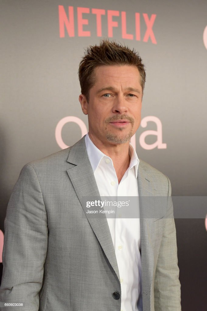 Co-Producer Brad Pitt attends 'Okja' New York Premiere at AMC Loews Lincoln Square 13 on June 8, 2017 in New York City.