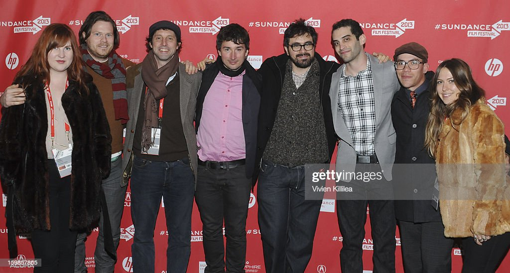 Co-producer Carlyn Hudson, production designer Michael Bricker, writer Scott Colquitt, producer Houston King, director Andrew Bujalski, producer Alex Lipschultz and costume designer Colin Wilkes attend 'Computer Chess' Premiere - 2013 Sundance Film Festival at Library Center Theater on January 21, 2013 in Park City, Utah.