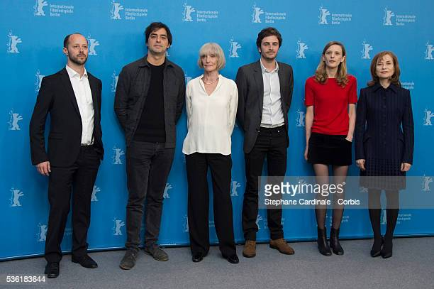 Coproducer Fabian Gasmia producer Charles Gillibert actress Edith Scob actor Roman Kolinka director Mia HansenLove and actress Isabelle Huppert...
