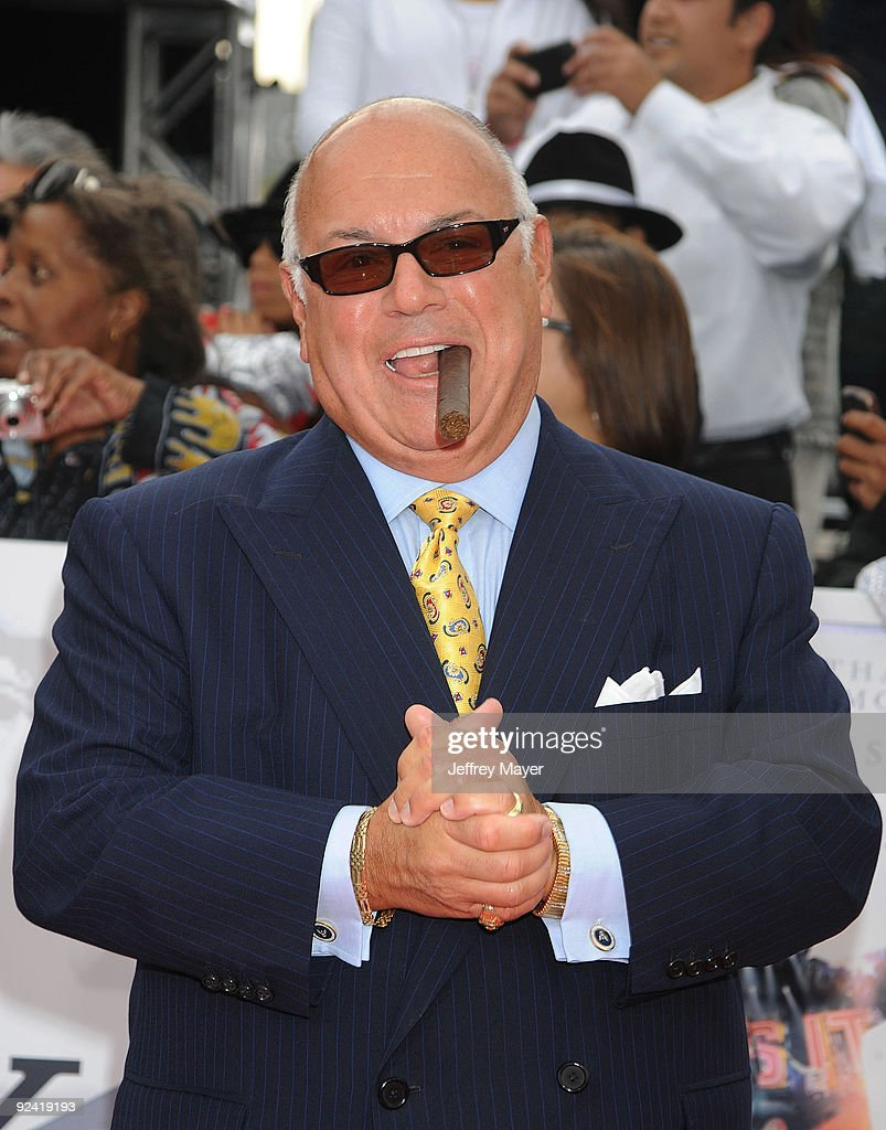 Co-producer Frank DiLeo arrives at the Los Angeles Premiere of 'This Is It' held at Nokia Theatre L.A. Live on October 27, 2009 in Los Angeles, California.