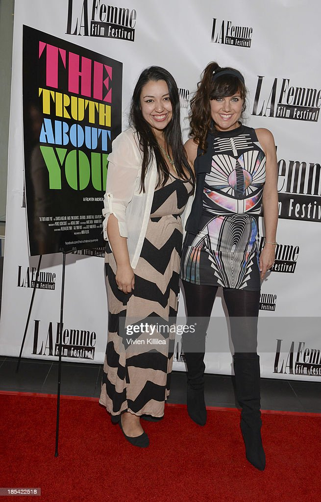 Co-producer of the LaFemme Film Festival Krystal Gomez and director Andrea Fellers attend 'The Truth About You' - Los Angeles Premiere at Regal 14 at LA Live Downtown on October 19, 2013 in Los Angeles, California.