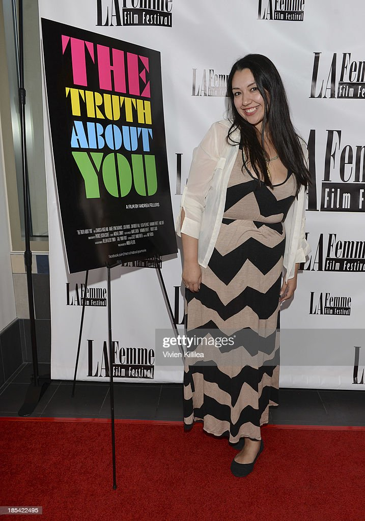 Co-producer of the LaFemme Film Festival Krystal Gomez attends 'The Truth About You' - Los Angeles Premiere at Regal 14 at LA Live Downtown on October 19, 2013 in Los Angeles, California.