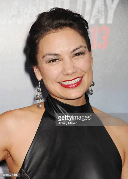 CoProducer Stephanie Caleb arrives at the 'Getaway' Los Angeles Premiere at Regency Village Theatre on August 26 2013 in Westwood California