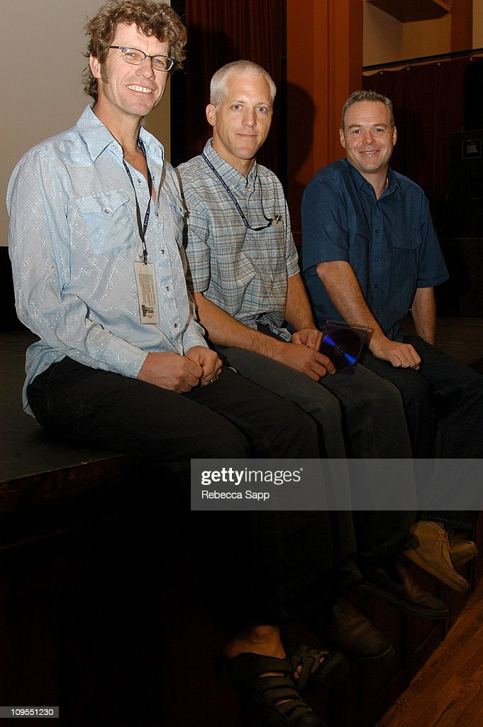 Coproducer/Sound Mike Kasic Producer/Camera Peck Euwer and Director/Editor David Pearce of 'Big Swell'